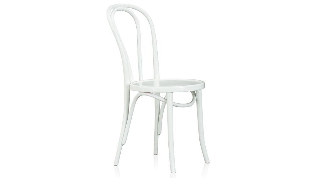 Vienna White Wood Dining Chair Crate And Barrel