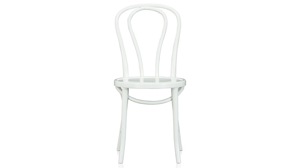 Vienna White Wood Dining Chair and CushionCrate and Barrel