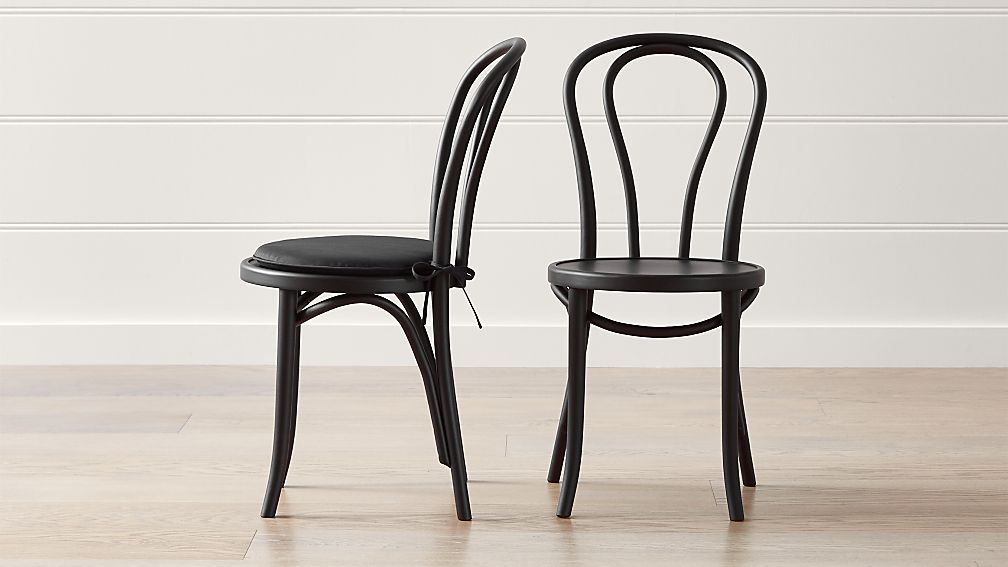 Vienna Matte Black Dining Chair And Cushion Crate And Barrel