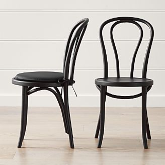 Vienna Matte Black Dining Chair And Cushion