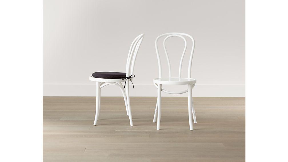 vienna white wood dining chair - Bistro Chairs