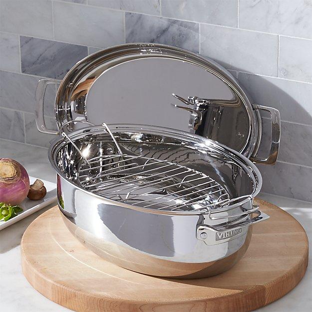 Oval Viking Roasting Pan Reviews Crate And Barrel