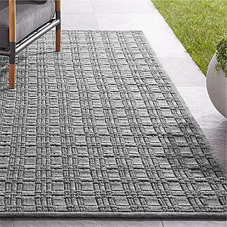 Villa Indoor/Outdoor Charcoal Basket Weave Rug