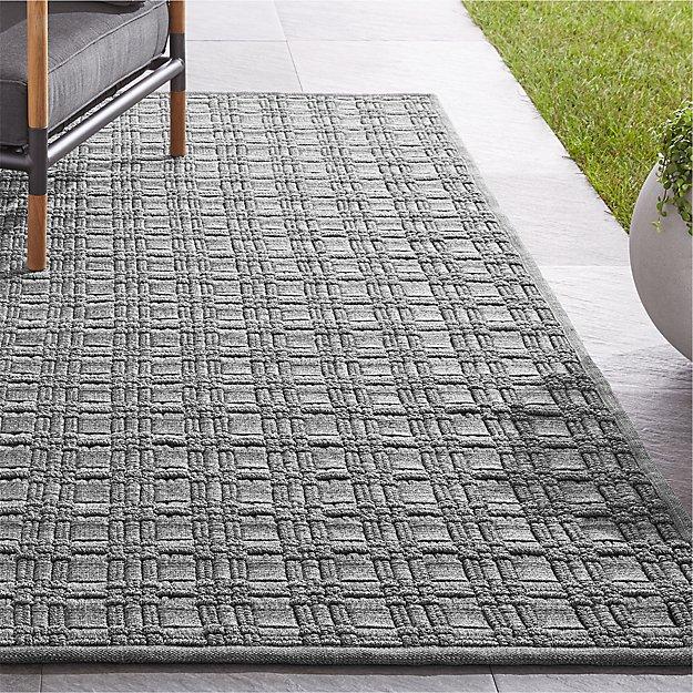 Villa Indoor/Outdoor Charcoal Basket Weave Rug - Image 1 of 7