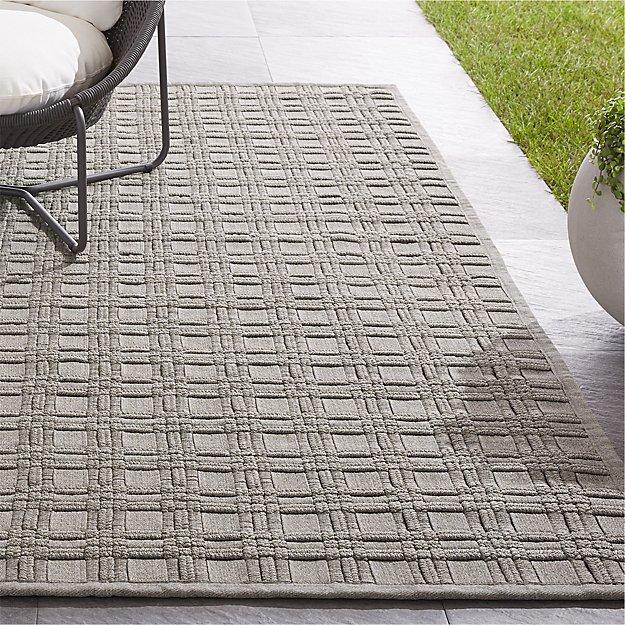 Villa Indoor/Outdoor Sand Basket Weave Rug - Image 1 of 4