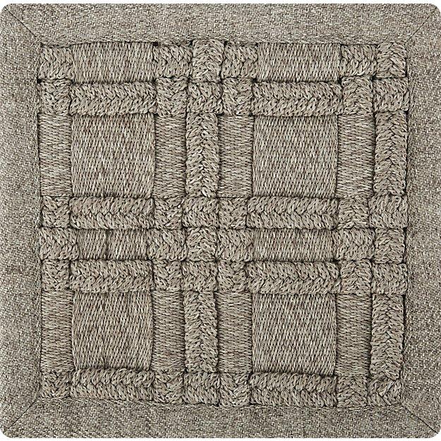 Villa Indoor/Outdoor Sand Basket Weave Rug Swatch - Image 1 of 3