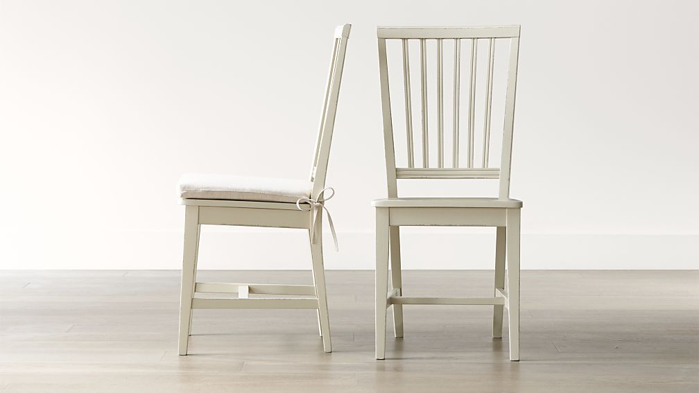 Village Vamelie Wood Dining Chair and Natural Cushion | Crate and ...
