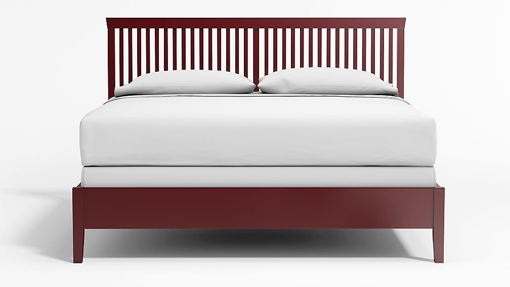 Village Red King Bed - Image 1 of 4