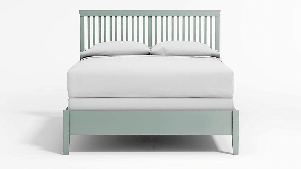 Village Blue Grey Queen Bed - Image 1 of 4