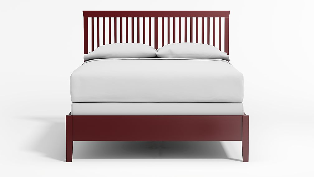 Village Red Queen Bed - Image 1 of 4
