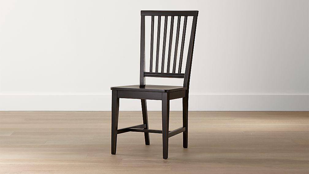 Village Bruno Black Wood Dining Chair - Image 1 of 7