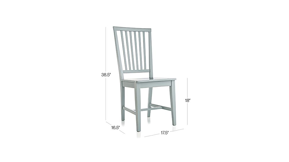 Village Blue Grey Wood Dining Chair Reviews Crate And Barrel