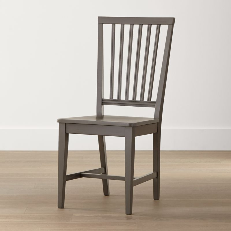 Village Grigio Wood Dining Chair Reviews Crate And Barrel