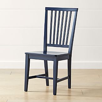 Village Indigo Wood Dining Chair