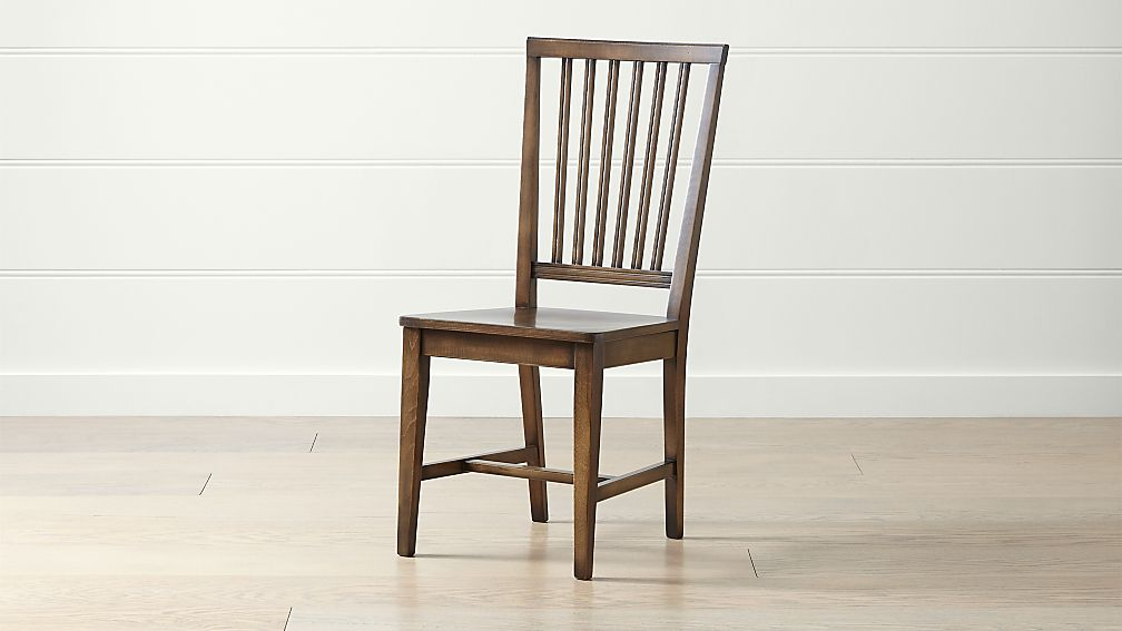 Village Nero Noche Wood Dining Chair - Image 1 of 6