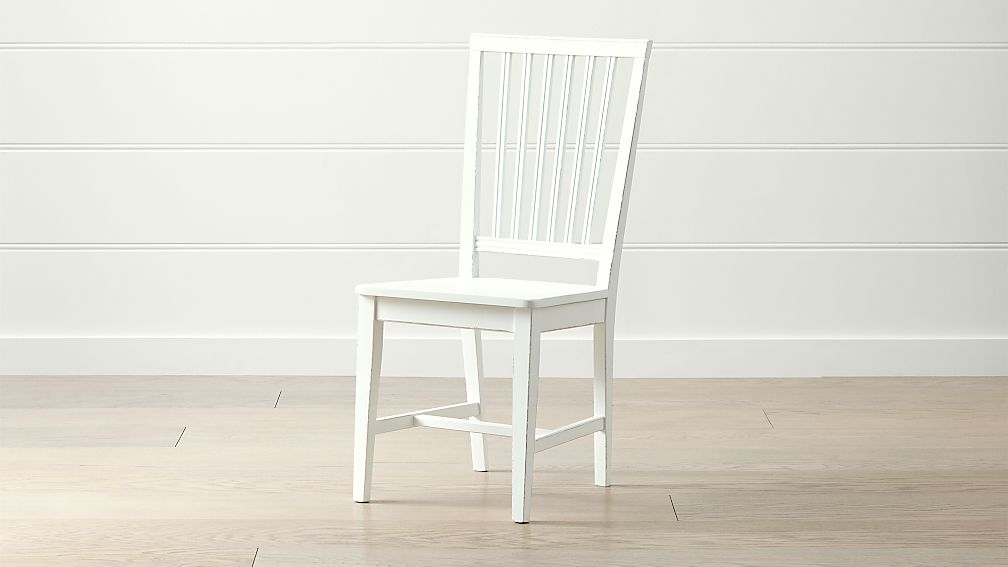 Village White Wood Dining Chair - Image 1 of 6