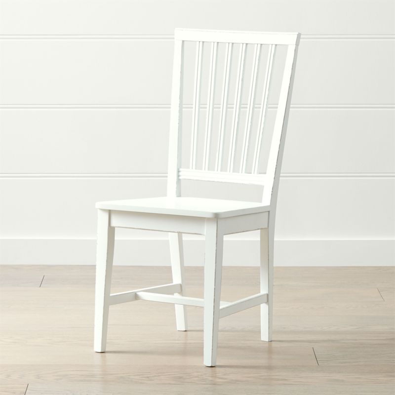 Village White Wood Dining Chair Reviews Crate And Barrel