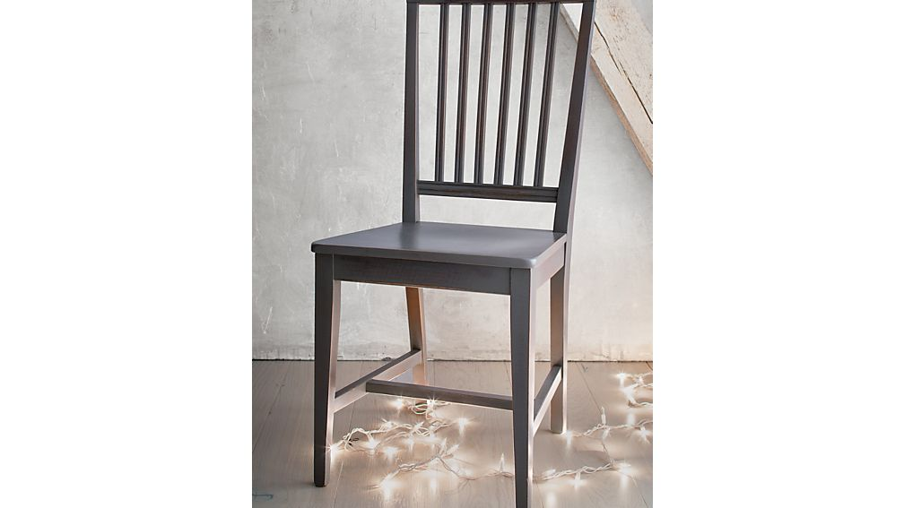 Village Grigio Wood Dining Chair