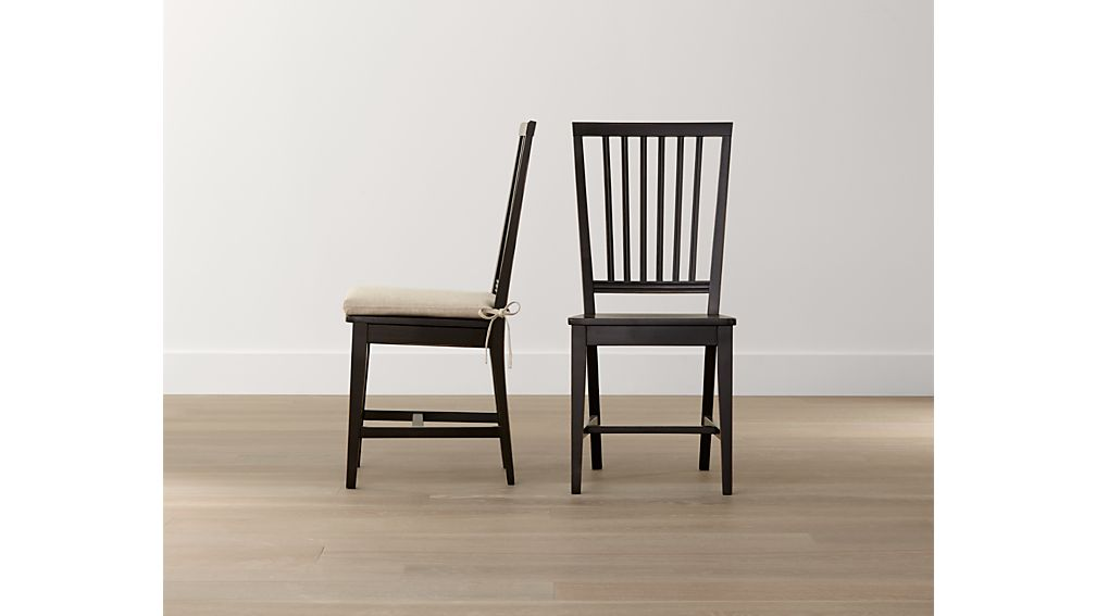 Village Bruno Black Wood Dining ChairCrate and Barrel