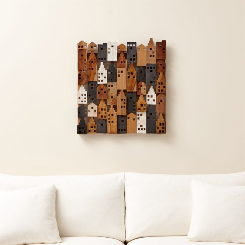 Superieur Village Wood Wall Art | Crate And Barrel