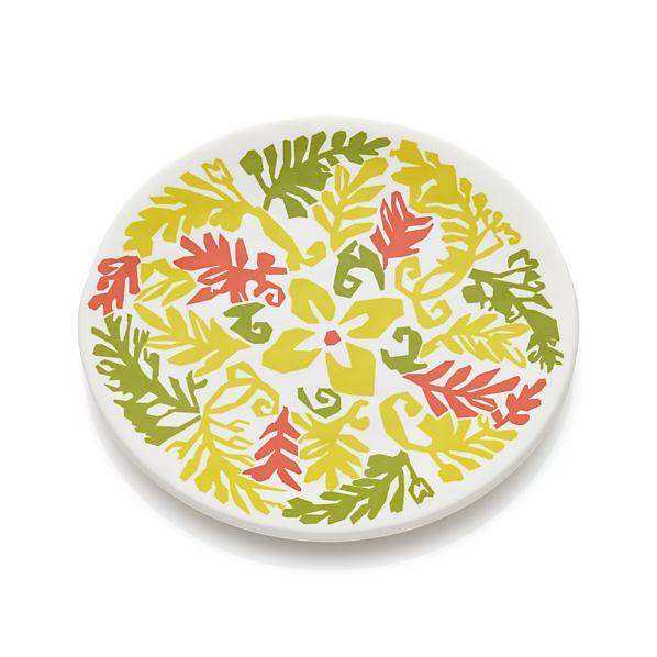 "Vinca Yellow 6.75"" Melamine Plate"