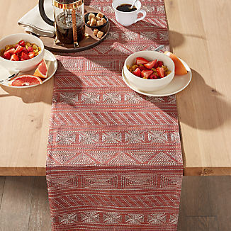 "Vicente 90"" Red Table Runner"