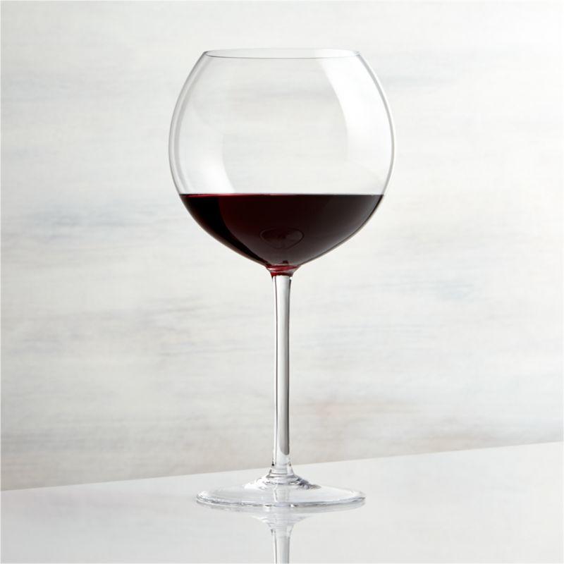This elegant stemware features oversized proportions that really let big wines breathe. Wine connoisseurs will appreciate this nicely weighted Burgundy glass, true to the classic shape with slender stem and generous bowl.<br /><br /><NEWTAG/><ul><li>Glass</li><li>26 oz.</li><li>Handmade</li><li>Hand washing recommended</li><li>Made in Czech Republic</li></ul><br />