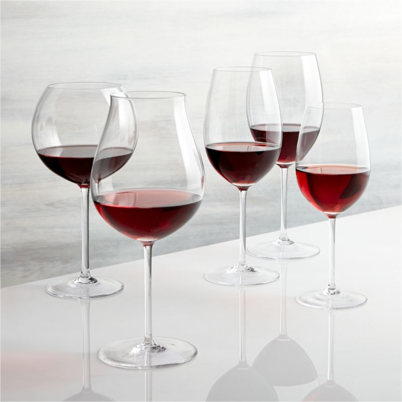 vineyard red wine glasses crate and barrel. Black Bedroom Furniture Sets. Home Design Ideas