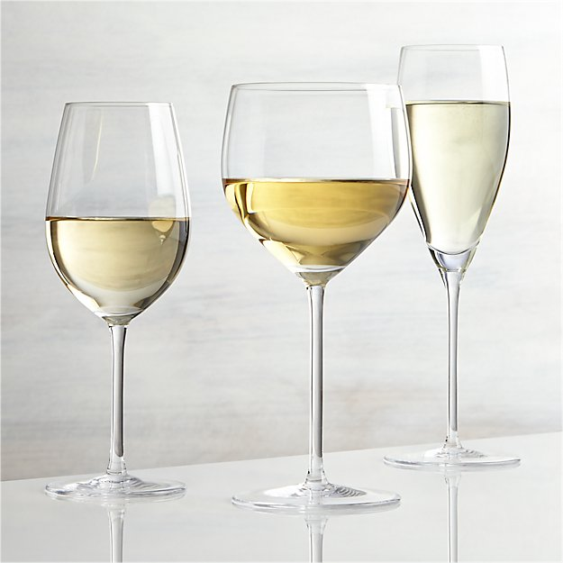good white wine vineyard white wine glasses crate and barrel 30920