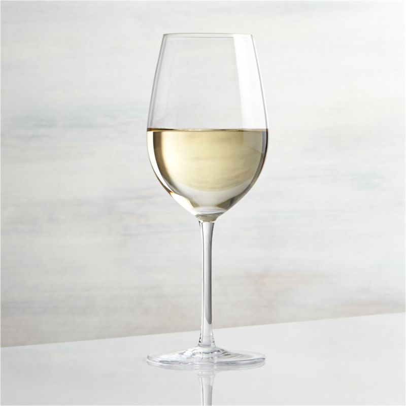 Great wines deserve the right glass to bring out their distinct aromas and tastes. Our Vineyard wine glass collection offers a suite of glasses, each crafted with specially shaped bowls to enhance enjoyment of white, red and sparkling wines. The classic tulip shape of the Viognier glass promotes the crisp nature of young white wines while keeping them properly chilled. Each elegantly shaped glass is handcrafted by highly skilled European glassmakers.<br /><br /><NEWTAG/><ul><li>Glass</li><li>12 oz.</li><li>Handcrafted</li><li>Hand wash</li><li>Made in Czech Republic</li></ul>