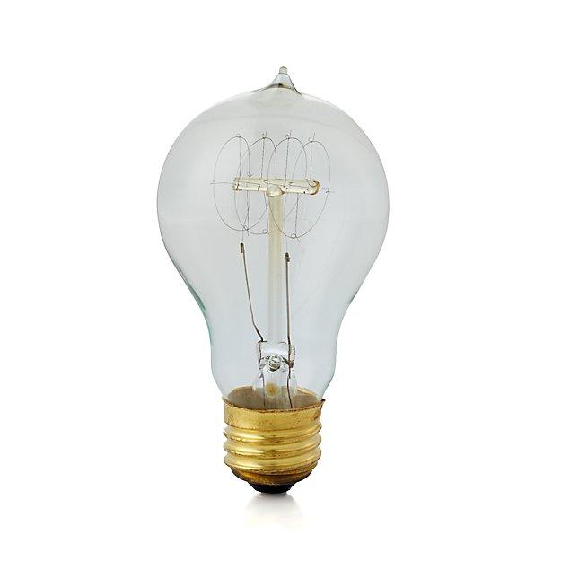 vintage 25w filament light bulb reviews crate and barrel. Black Bedroom Furniture Sets. Home Design Ideas