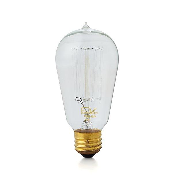 vintage 40w filament light bulb reviews crate and barrel. Black Bedroom Furniture Sets. Home Design Ideas