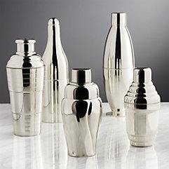 'Bar Accessories' from the web at 'https://images.crateandbarrel.com/is/image/Crate/VintageCocktailShakerS5SHF17/$categoryBorder$/170626094345/vintage-cocktail-shakers.jpg'