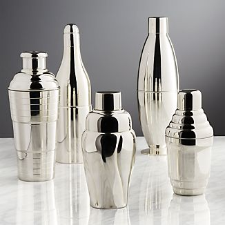 Vintage Cocktail Shakers, Set of 5