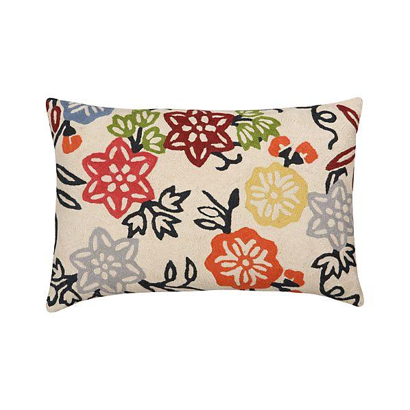"Vintage Garden 18""x12"" Pillow"