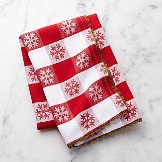 Vintage Snowflake Jacquard Dish Towel