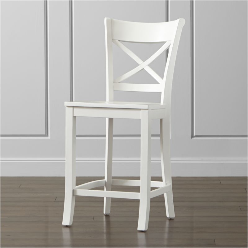 Vintner White Counter Stool Reviews Crate And Barrel