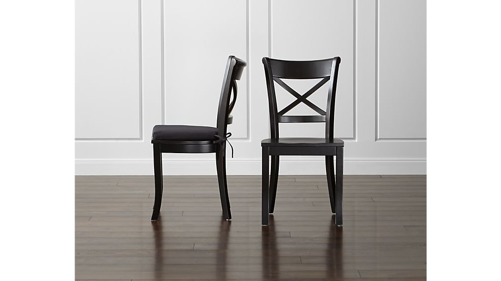 Vintner Black Wood Dining Chair | Crate and Barrel