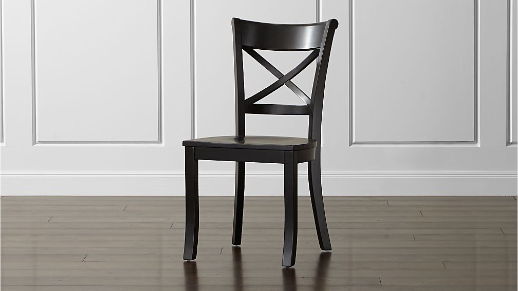 Vintner Black Wood Dining Chair Reviews Crate And Barrel