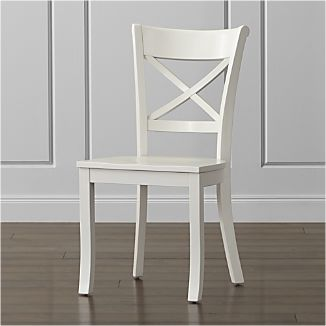 white wood chairs crate and barrel