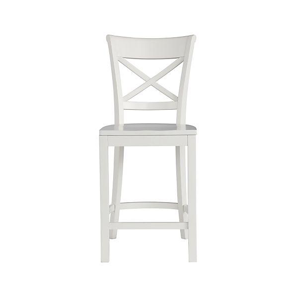 Excellent Vintner White Bar Stool And Cushion Ncnpc Chair Design For Home Ncnpcorg
