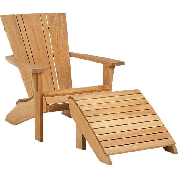 Vista Adirondack Chair with Ottoman