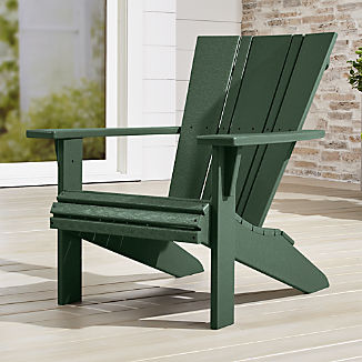 Vista Ii Green Adirondack Chair