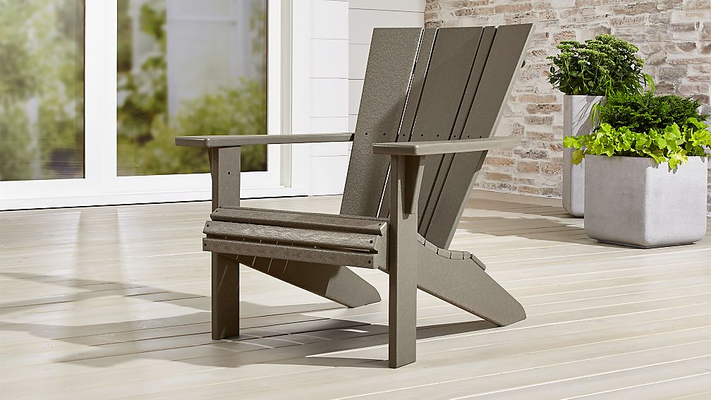 Vista Ii Slate Grey Adirondack Chair Reviews Crate And