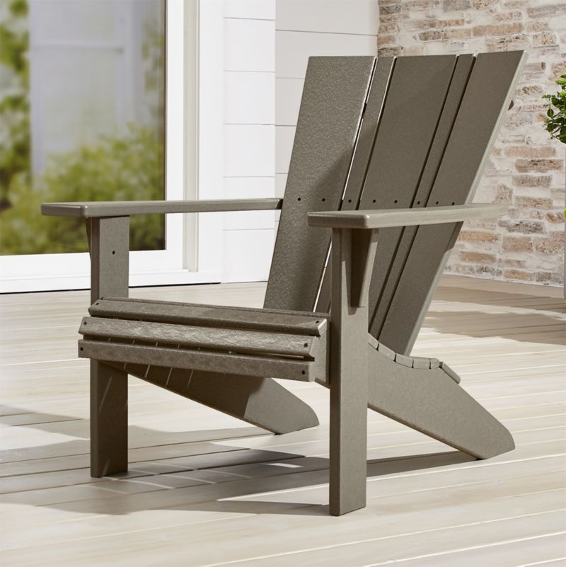 vista ii slate grey adirondack chair reviews crate and barrel rh crateandbarrel com