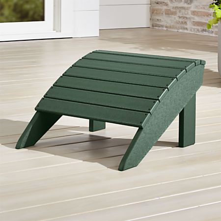 Terrific Vista Ii Green Adirondack Ottoman Reviews Crate And Barrel Gmtry Best Dining Table And Chair Ideas Images Gmtryco