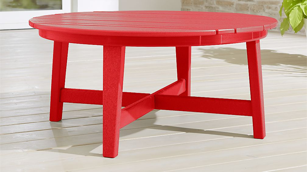 Vista II Sunset Red Adirondack Coffee Table + Reviews | Crate and Barrel