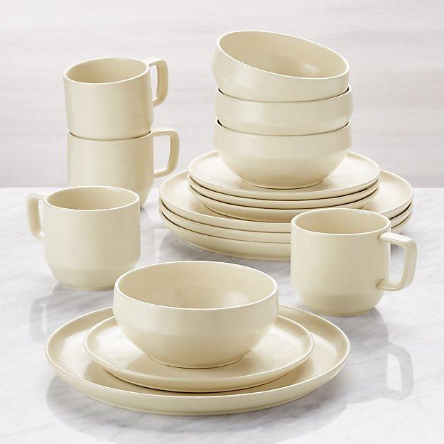 Visto 16-Piece Cream Stoneware Dinnerware Set - Image 1 of 7