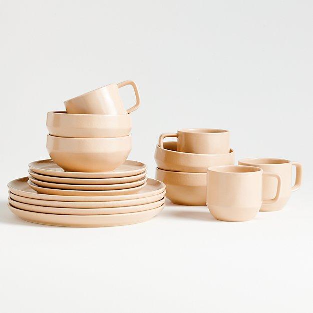 Visto 16-Piece Blush Stoneware Dinnerware Set - Image 1 of 5