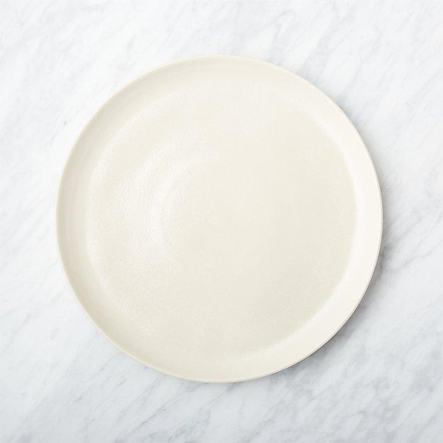Visto Cream Stoneware Dinner Plate - Image 1 of 9